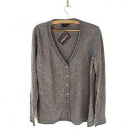 Cardigan em tricô cinza
