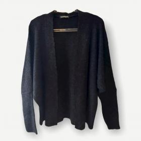 Casaco Vitória preto tricot