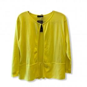 Casaquinho tricô amarelo laço atrás