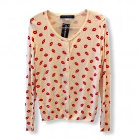Casaquinho tricô beijo rosinha