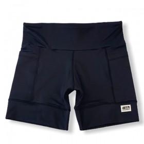 Shorts com bolso secreto em compress preto