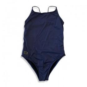 Maiô natação alcinha azul marinho