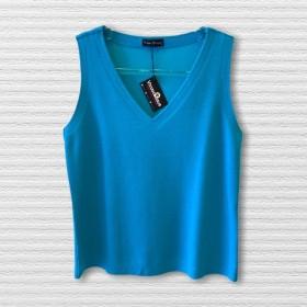 Regata buclê azul turquesa