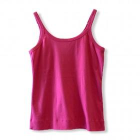 Regata canelada alcinha pink