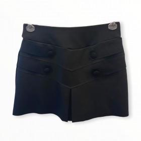Saia shorts detalhe botões preta