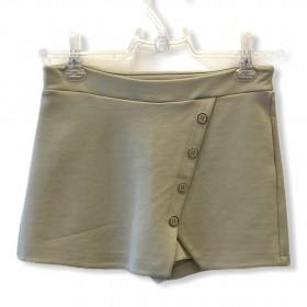 Saia-shorts em neoprene areia