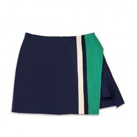 Saia-shorts evasê  neoprene azul marinho