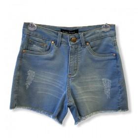 Short Jeans claro em moletom
