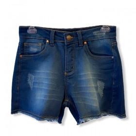 Short Jeans escuro em moletom