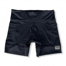 Shorts com bolso secreto em sportiva preto