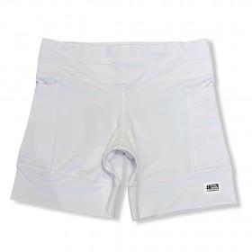 Shorts de compressão 1500 bolsos em compress branco