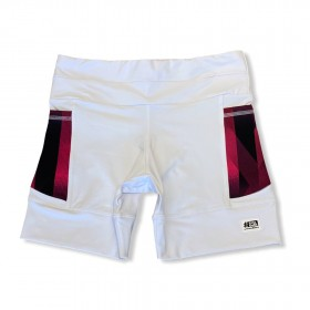 Shorts de compressão 1500 bolsos em compress branco bolsos estampa cherry