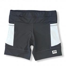 Shorts de compressão 1500 bolsos em compress chumbo bolsos brancos