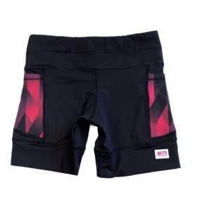 Shorts de compressão 1500 bolsos em compress preto com bolsos laterais estampa Cherry