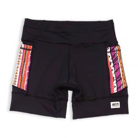 Shorts de compressão 1500 bolsos em compress preto com bolsos laterais estampa Tribal