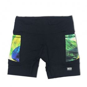 Shorts de compressão 1500 bolsos em sportiva preto com bolsos laterais estampa Brasil