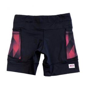 Shorts de compressão 1500 bolsos em sportiva preto com bolsos laterais estampa Cherry