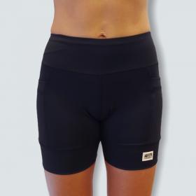 Shorts de compressão 2 bolsos laterais Square em sportiva preto