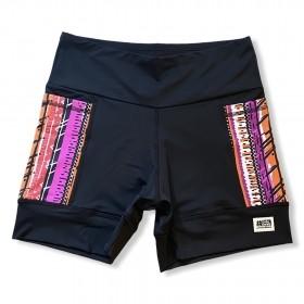 Shorts de compressão 2 bolsos laterais Square em sportiva preto bolso Tribal