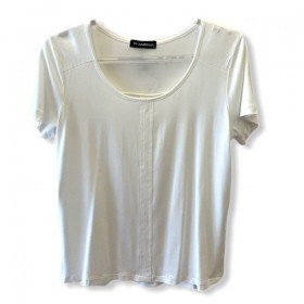 T-shirt basic prega nas costas off white