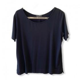 T-shirt basic prega nas costas preta