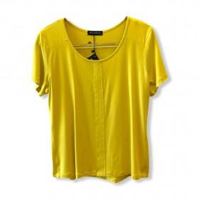 T-shirt basic recorte amarela