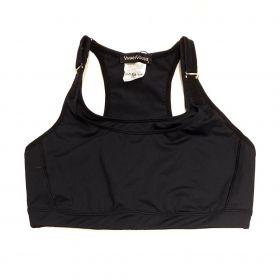 Top mil bolsos de compressão ajustável com bolsos frente e costas preto