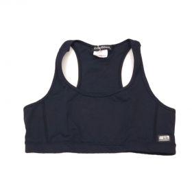Top de compressão decote u costas nadador em compress preto