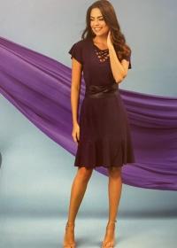 Vestido Carla trançado decote marinho