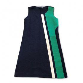Vestido evasê  buclê (opções de cor)
