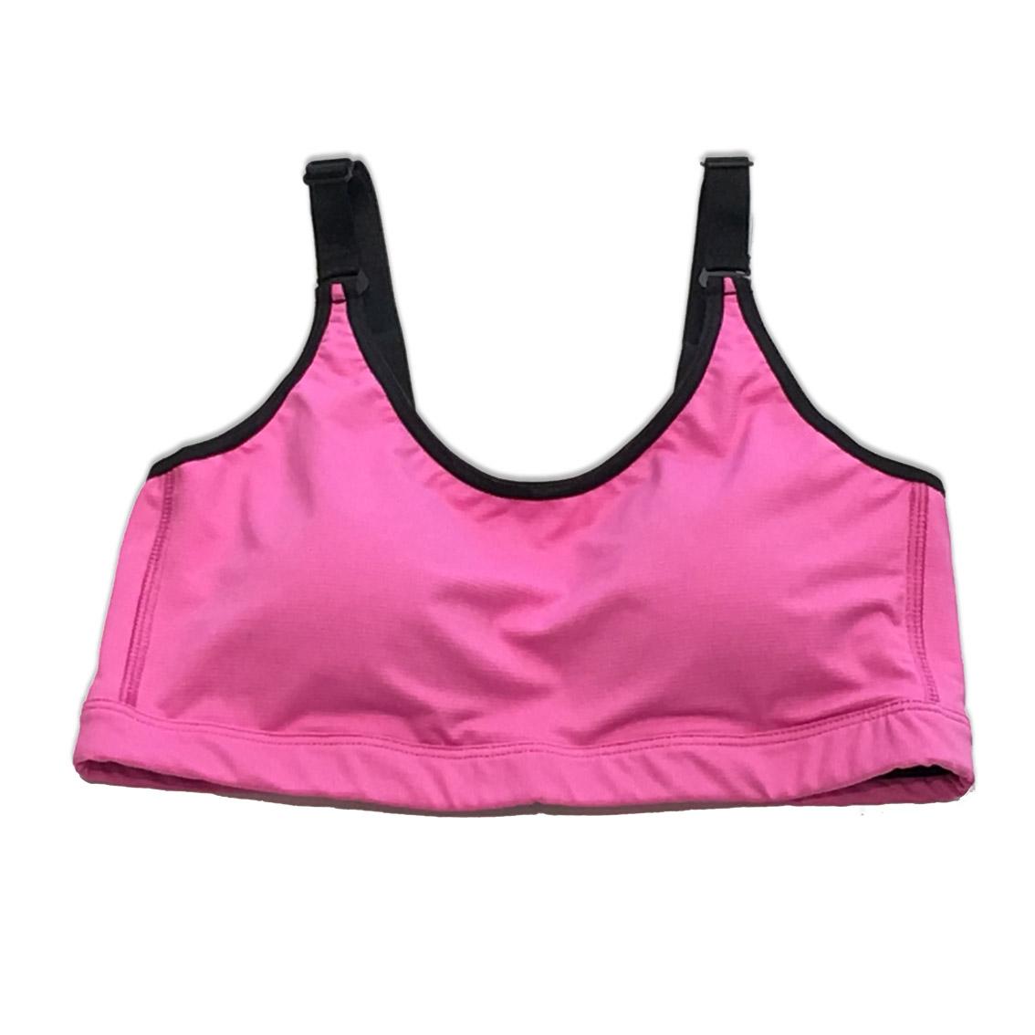 Top de compressão com bojo em compress ajuste alça e costas rosa