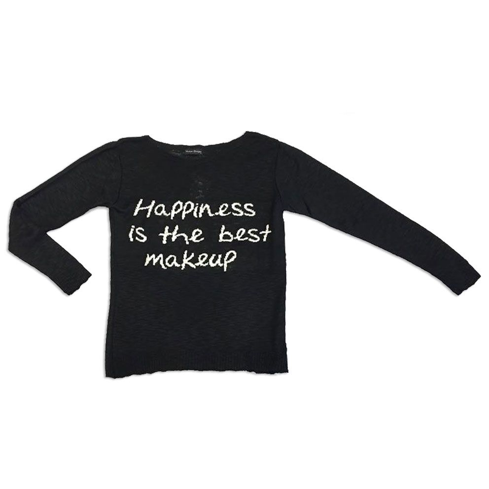 Blusa tricot happiness is the best makeup (cores)  - Vivian Bógus