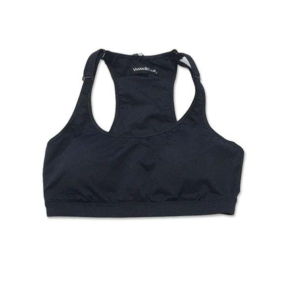 Top de compressão com bolso e bojo em sportiva ajuste alça e costas preto