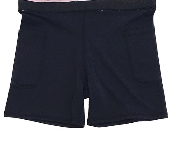 Saia fitness básica azul marinho (2 bolsos)