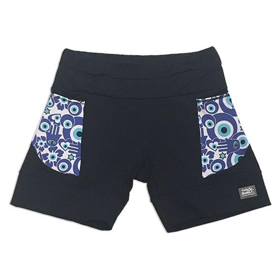 Shorts de compressão mil bolsos em compress preto com bolsos olho grego new