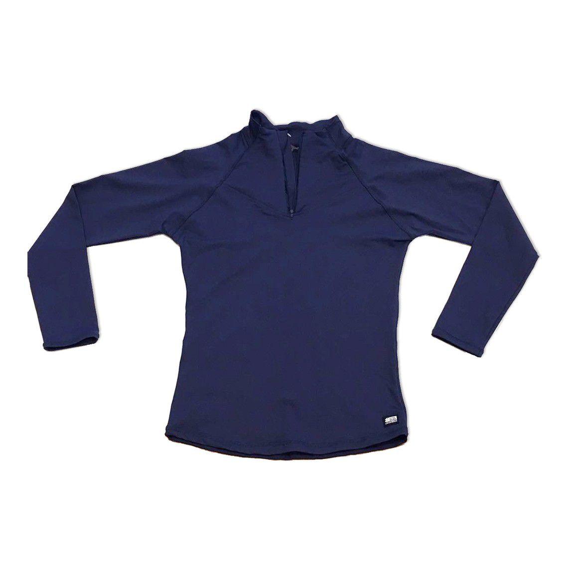 Blusão com bolso ziper nas costas marinho