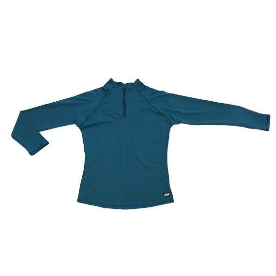 Blusão com bolso ziper nas costas verde  - Vivian Bógus