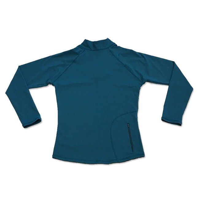 Blusão com bolso ziper nas costas verde