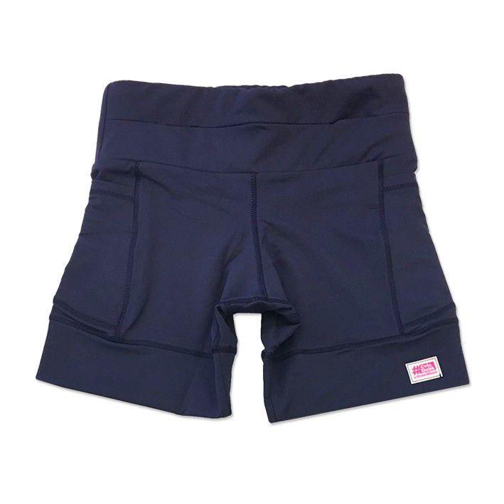 Shorts de compressão 1500 bolsos em compress azul marinho  - Vivian Bógus