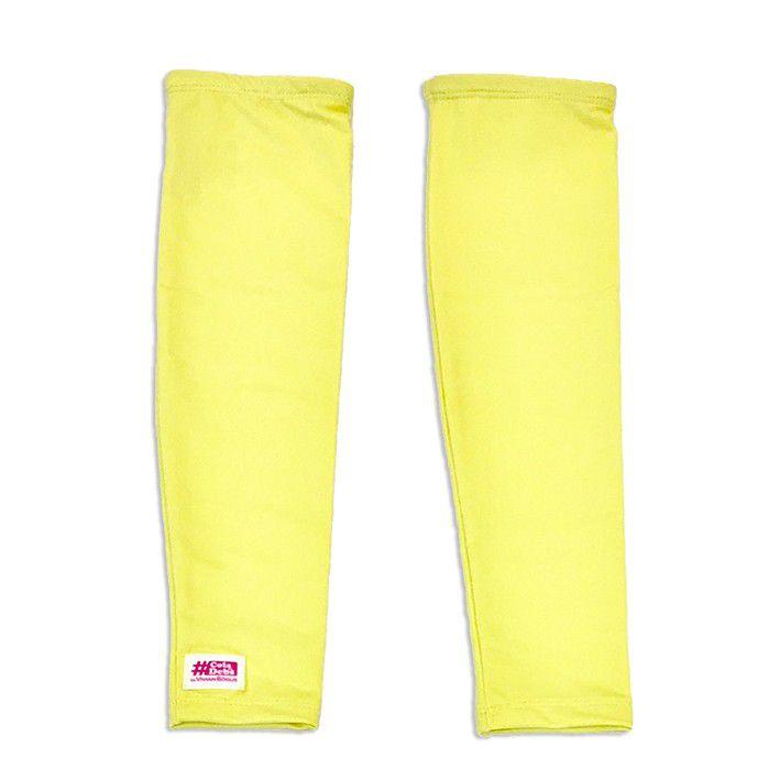 Manguito de compressão em compress amarelo neon
