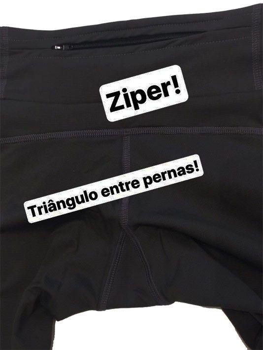 Legging de compressão 1500 bolsos em compress preto  - Vivian Bógus