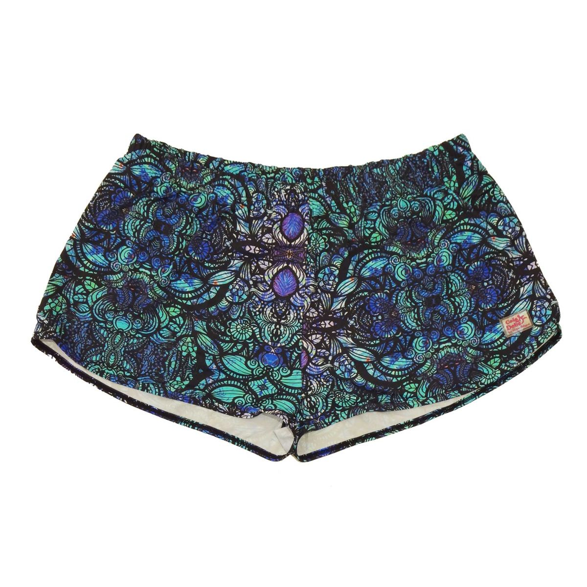 Shorts soltinho verde estampado