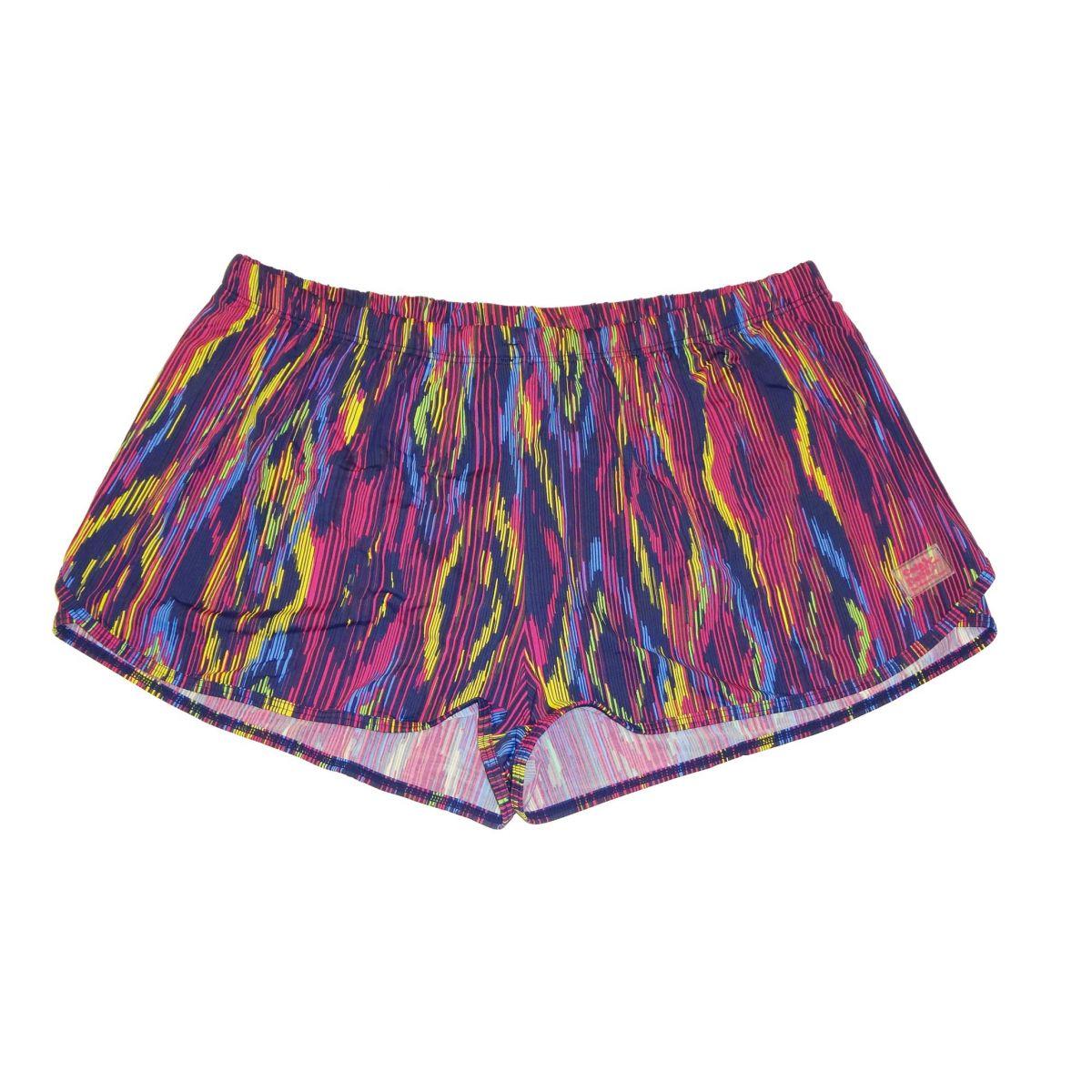 Shorts soltinho rosa estampado