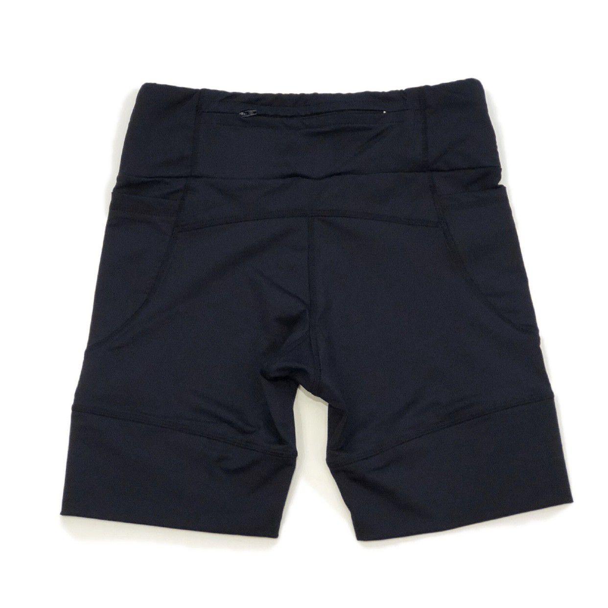 Bermuda de compressão masculina - unissex 1500 bolsos em compress preto  - Vivian Bógus