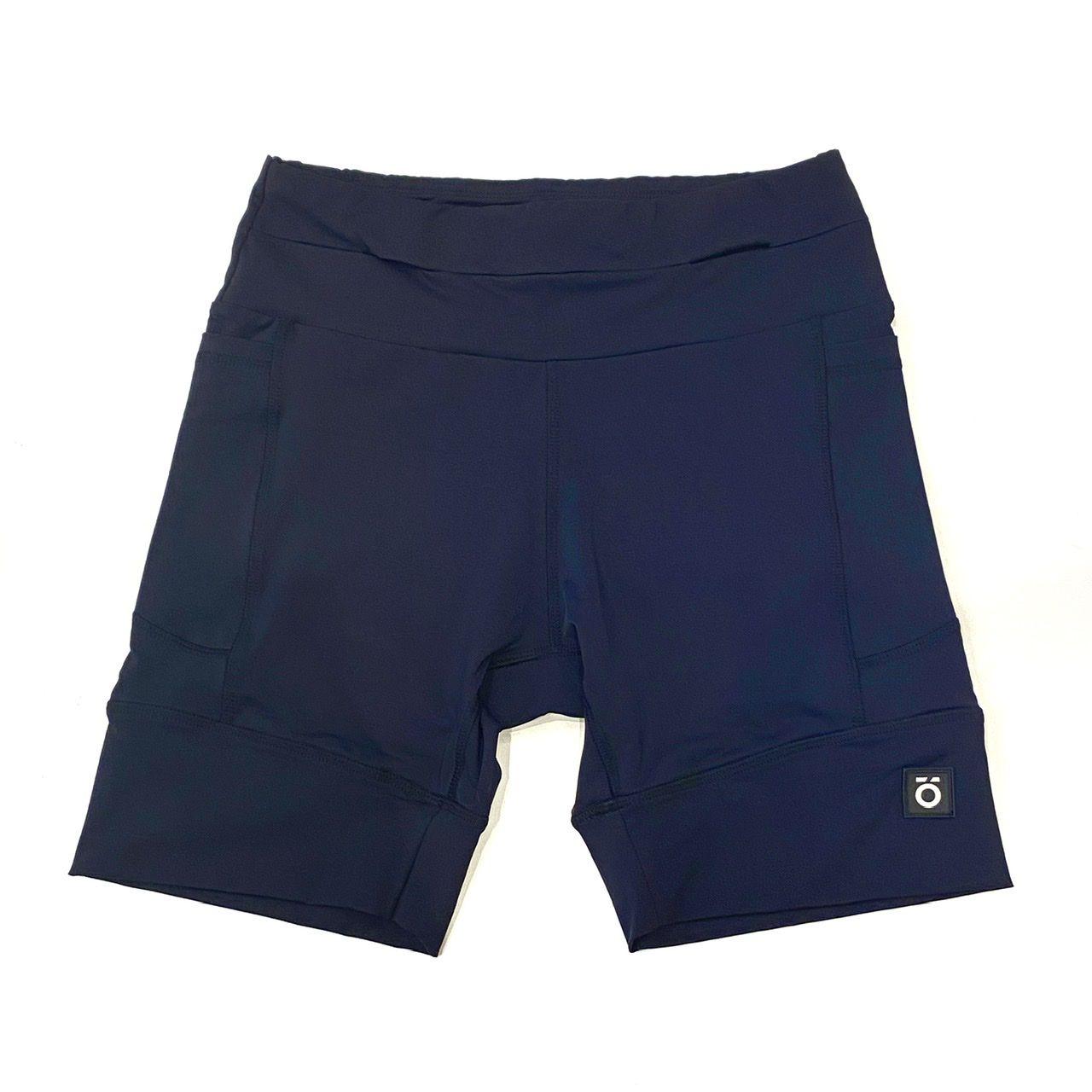 Bermuda de compressão masculina - unissex 1500 bolsos em sportiva azul marinho  - Vivian Bógus