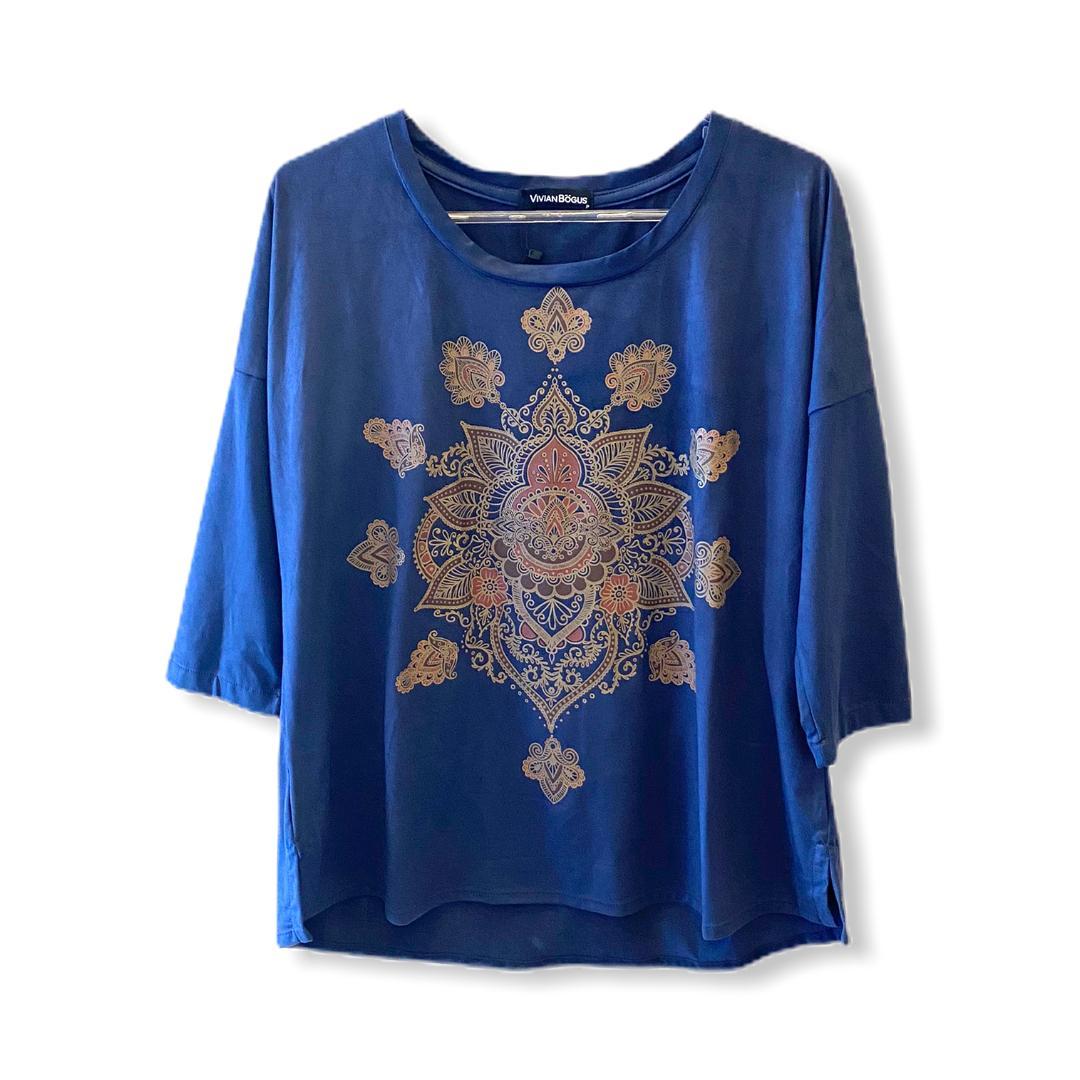 Blusa ampla mandala  - Vivian Bógus