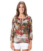 blusa ampla tropical Salinas  - Vivian Bógus