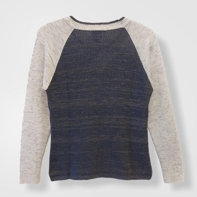 Blusa Carolina bicolor raglan tricot   - Vivian Bógus