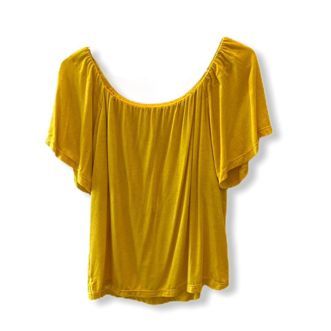 Blusa ciganinha viscolinho amarela   - Vivian Bógus