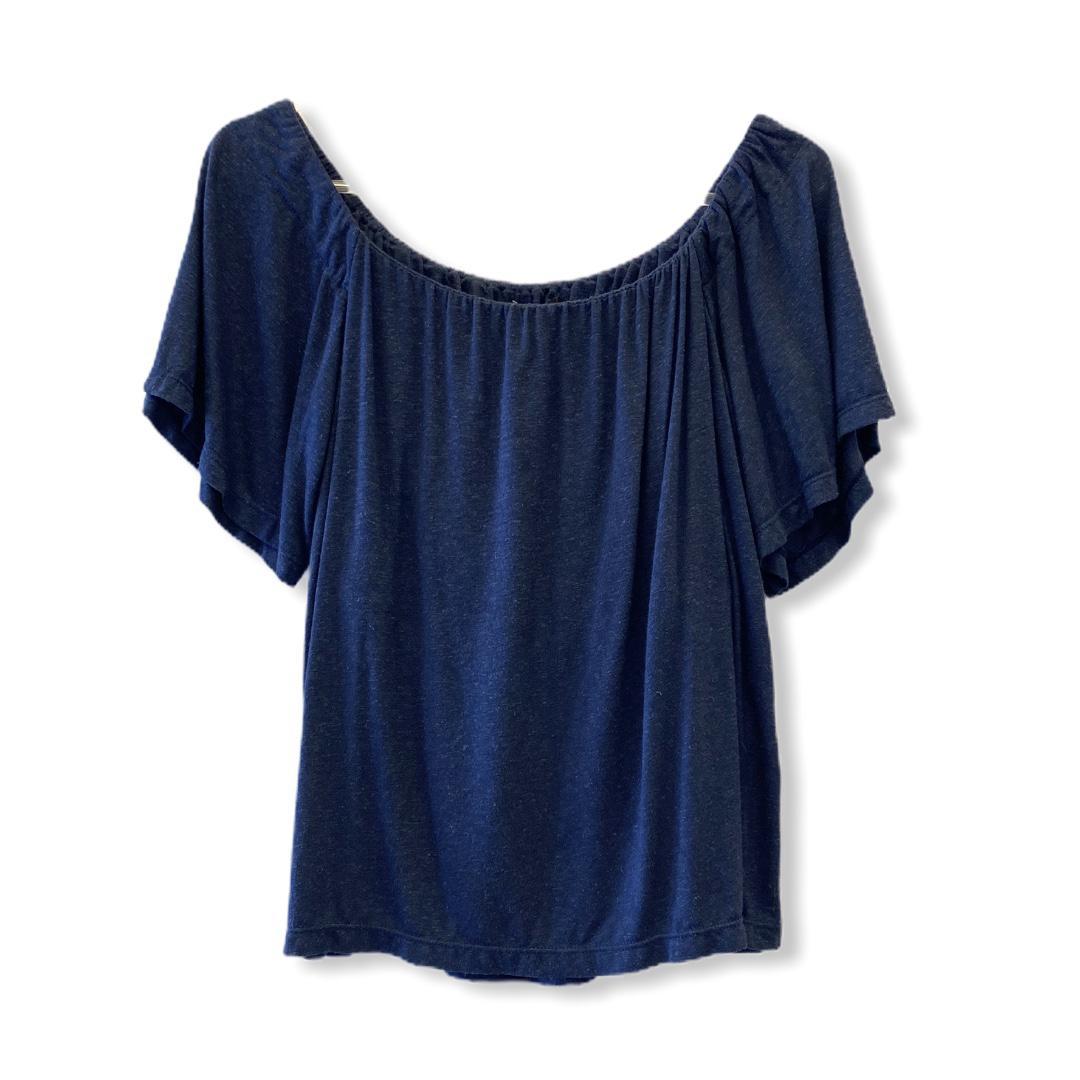 Blusa ciganinha viscolinho azul  - Vivian Bógus